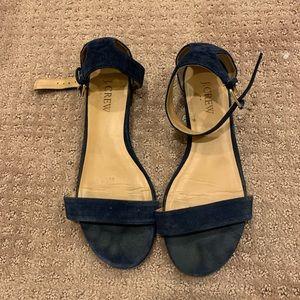 J. Crew navy suede sandals